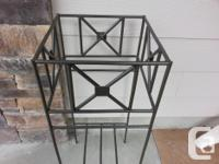 Made in B.C., this wrought iron stand can be used for a
