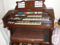 Wurlitzer Theatre Style Organ - Sable Cherry Model