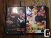 A Collection of 20 WWE Dvds for any wrestling fan. One