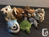 1990's collection of WWF, GeoPals, and Ty snow leopard,