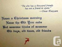 WWII Canadian Air Force Christmas Card with real