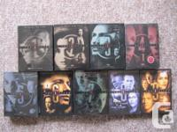 The entire series. All 9 season complete. Each boxed