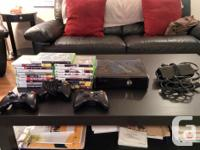 Xbox 360 Slim 250 GB (works perfectly) plus 19 games