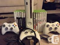 Selling xbox 360 in functioning health condition with.
