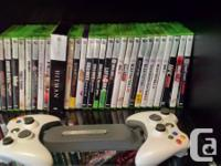 Offering my xbox 360+accessories+video games. 29 video