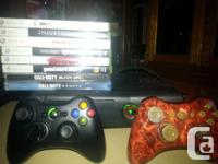 I am offering my 500GB Xbox 360 and two controllers and