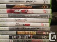 New and like new Xbox 360 games $10 each. Batman Arkham