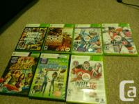 XBOX 360 250 GIB with 7 games , games are NHL 13, NHL