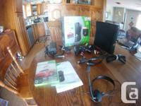 I am selling my Xbox 360 Slim 250GB.  It comes with;