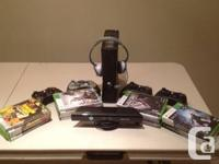 Xbox 360 Slim with 250gb Hardrive with Kinect 15 games