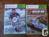 5-XBOX 360 games, buy individually $10.00-$20.00, or as