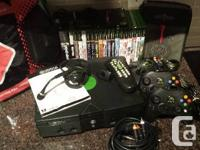 XBOX package (system, 37 games, and accessories) - I'm