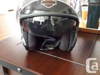 This is a great helmet. It comes with a built in visor