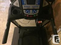 "Xterra XT90 treadmill - - 20"" x 55"" low maintenance"