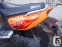 Make Yamaha Model Bws Year 2012 kms 16000 This is an