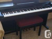 Yamaha Clavinova CVP-201 digital piano for sale. Barely