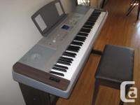 88-key Graded Hammer Standard (GHS) keyboard with matte