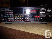 Gently used Yamaha AV Receiver, rarely used. Comes with