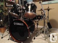 Intermediate Yamaha DP series kit with great cymbal