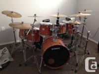 For sale is a Yamaha Maple Custom Absolute kit.  I have