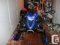 2008 yamaha nytro turbo. 5900 kms  -Stage 3 powderlite