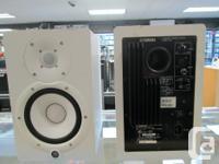 "Pair of Yamaha 6.5"" powered studio monitors model HS7"