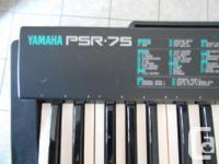 Yamaha PSR-75 Portable Keyboard: - 48 keys / 4 octives