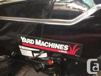 Selling a Yard Machines lawn/garden tractor. Like-new,