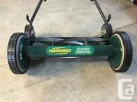 "Practically brand new 18"" yard works reel mower. These"