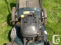 "Yardworks lawnmower 21"" blade Adjustable height"