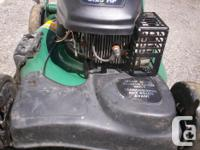 Electric starter (battery operated) and pull start,