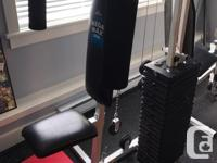 Small footprint (4 x 6') home gym comes with manual,