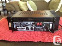 500 watt amp (250 per side). Amp was used briefly in a
