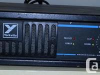 Used Yorkville AP800 power amp for a PA system, bought