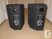 Yorkville Elite E10P's and stands. Owned these since