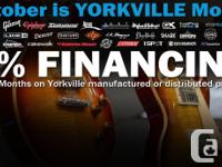 12 month 0% financing available on all Yorkville
