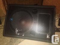 MX810 Mixer, pair of YX15 passive speakers. Great lil