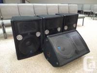 4 Yorkville YX15P Powered Loudspeakers/monitors