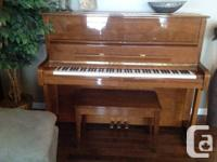 Beautiful upright piano in exceptional disorder.