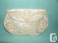 New w/Box white Garter belt with Fur trim in EXC as you