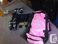 Brand new Easton hockey bag, assorted hockey equipment