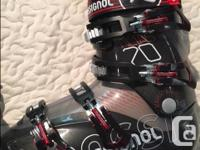 Rossignol skiis and boots. Skiis are older but in