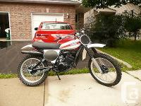 beautifully restored 1976 Yamaha yz125x every nut,