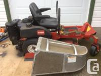 """32"""" zero turn commercial lawn mower 7 years old but low for sale  British Columbia"""