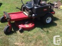 Zero turn toro 4200 time tater riding lawn mower Approx