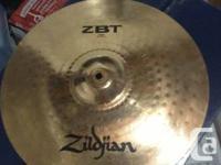 "Selling my zildjian ZBT 16"" crash. It is made of sheet"