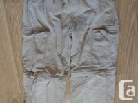 zip-off cargo pants fits Boys size 10-12 bottom part of