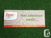 Hi. I have a Ziptrek Zipline gift coupon available.