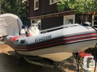 """very nice zodiac 15'6"""" loa with a very fuel efficient"""