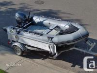 FOR SALE: 3.81 metre (12 1/2 ft) Zodiac with 15 HP